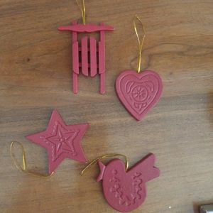 Vintage wood ornaments